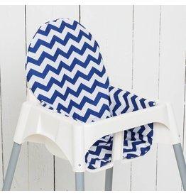 """Highchair cushion """"chevron blue"""""""