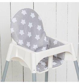 """Sitzkissen """"Sterne grau"""" für Ikea Antilop"""