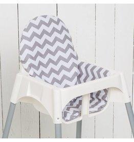 """Highchair cushion """"chevron/ stripes"""""""