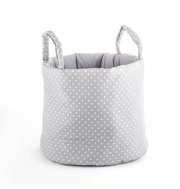 "Storage Basket ""Dots small grey"""