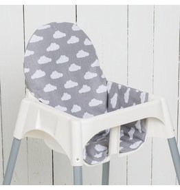 "Highchair cushion ""clouds grey"""