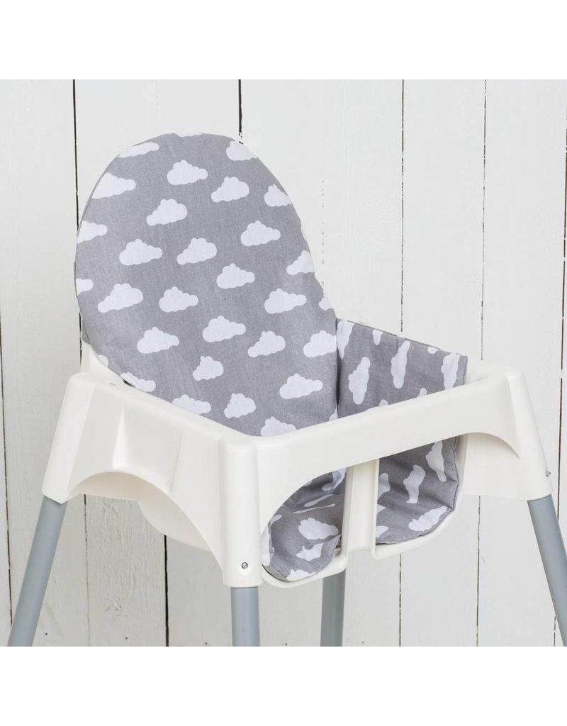 "Highchair cushion ""clouds grey"""