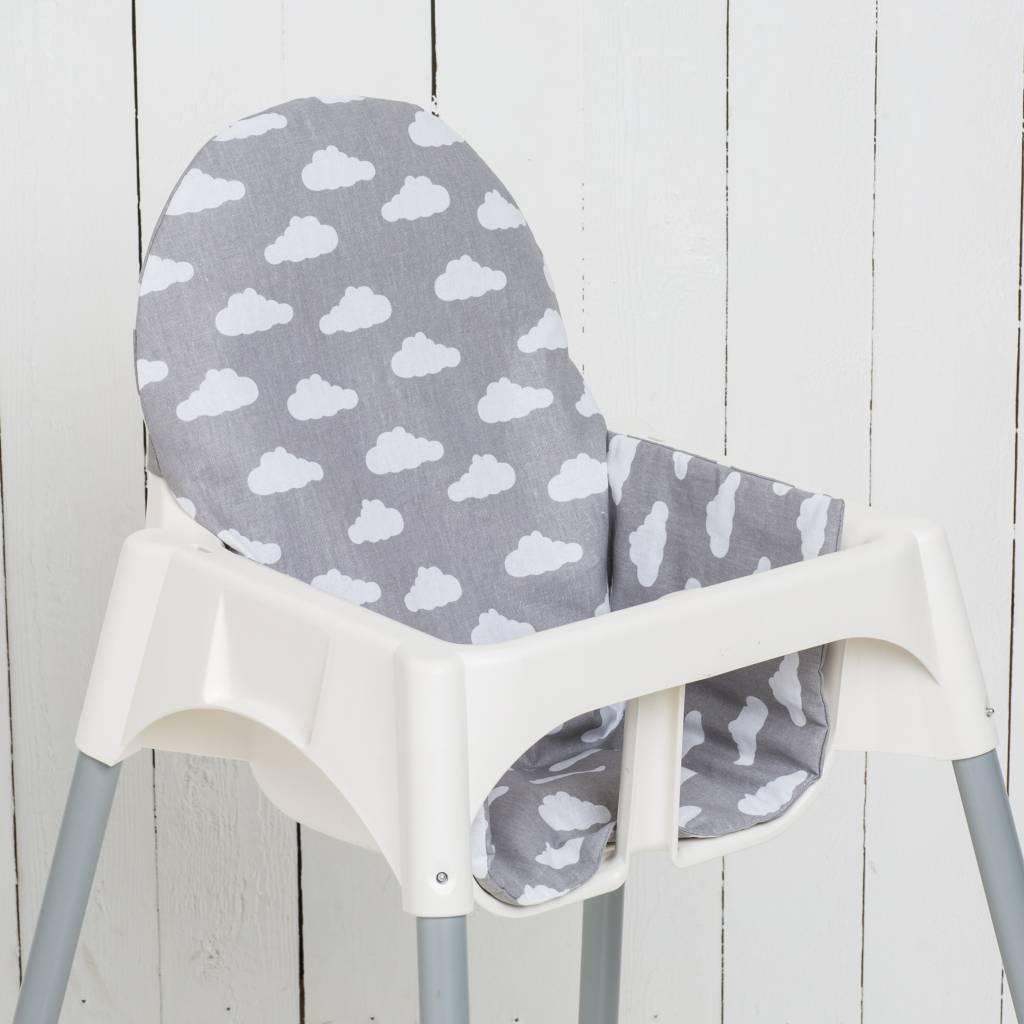 Coussin Nuages Gris Pour Chaise Haute Antilop De IKEA