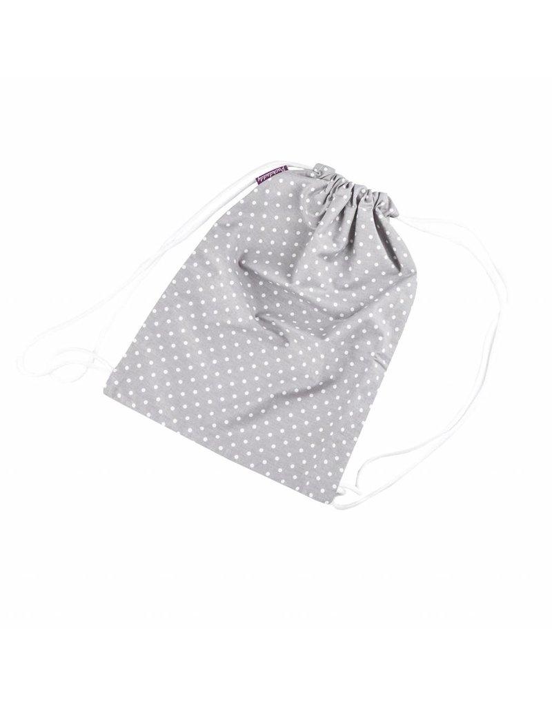 "Drawstring Bag for Children ""Dots Grey"""