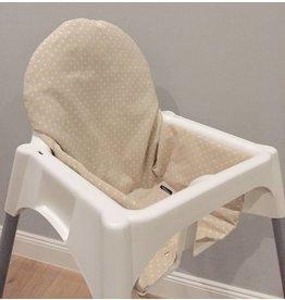 """Sitzkissen """"Punkte beige"""" für Ikea Antilop Hochstuhl"""
