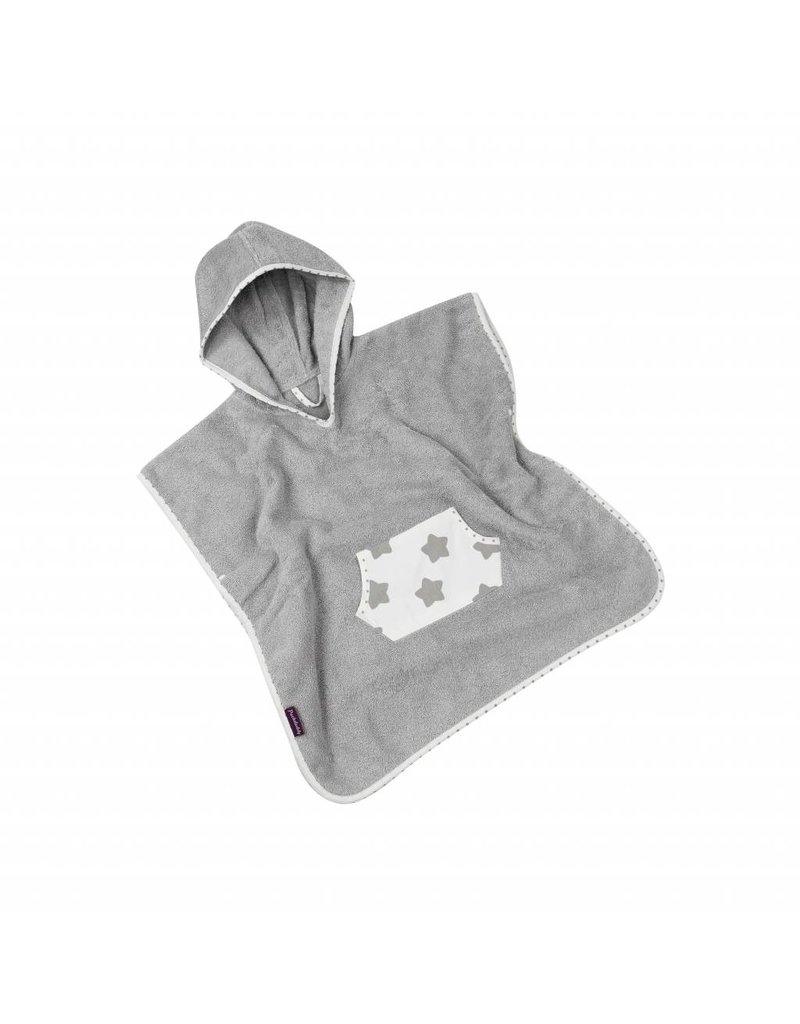 "Hooded Towel Poncho ""Stars White"""