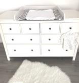 """Wickelaufsatz """"Rund""""  in weiß mit extrabreiter Blende  für IKEA Hemnes 160 cm"""