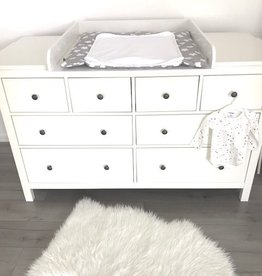 "Changing Top ""Round"" with extra wide cover for IKEA Hemnes dresser 160 cm"