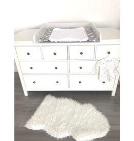 """Plan à langer """"Rond"""" avec bande  extra large pour la commode Hemnes  d'IKEA 160cm"""