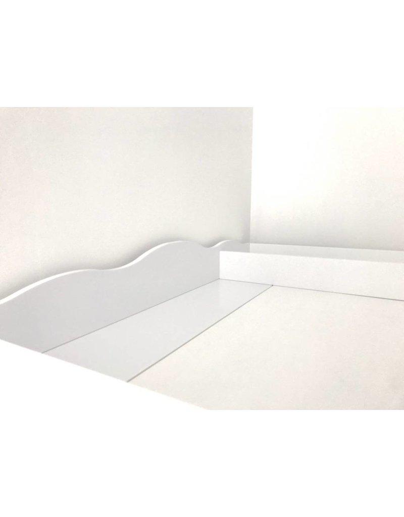 """""""Nuage XXL séparation"""" plan à langer avec un joli profil côté face pour tous les commodes IKEA Hemnes"""