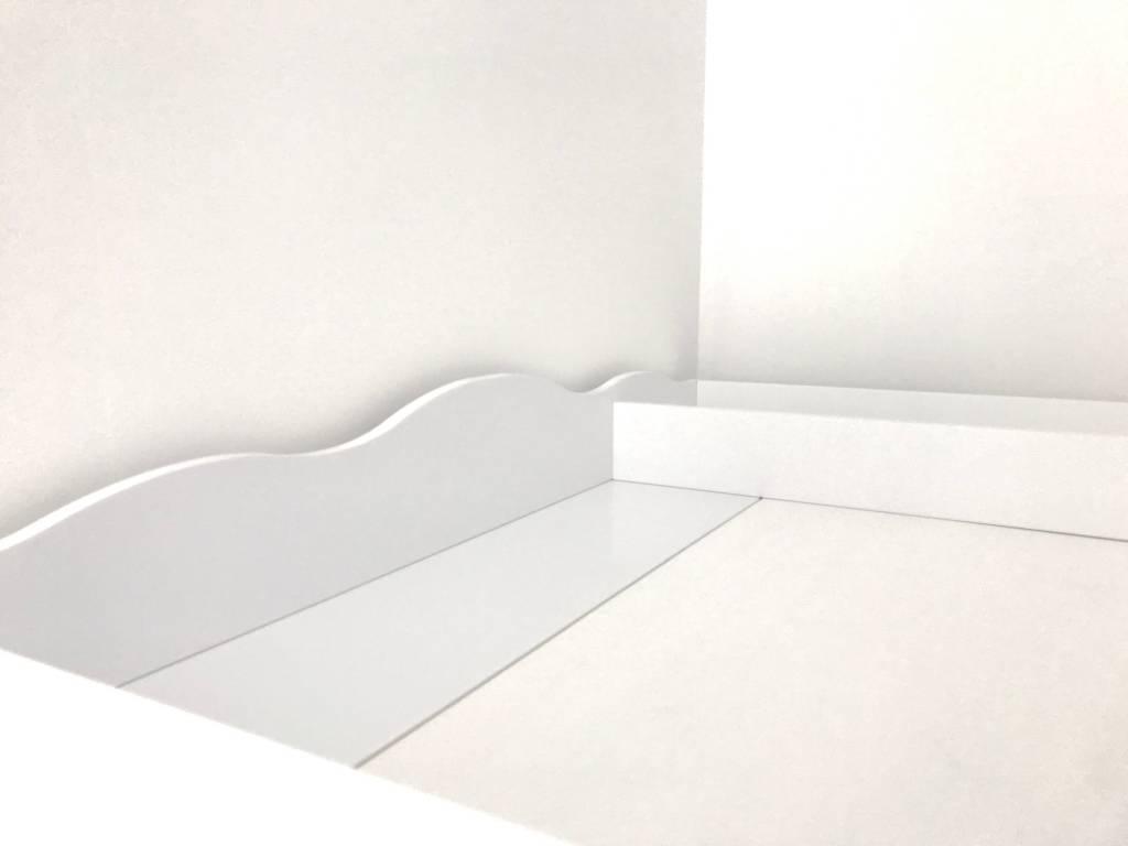 """Wickelaufsatz """"Wolke XXL Rund mit Trennfach"""" für IKEA Hemnes in weiß"""