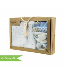 "Organic cotton gift set ""Stars light blue"""