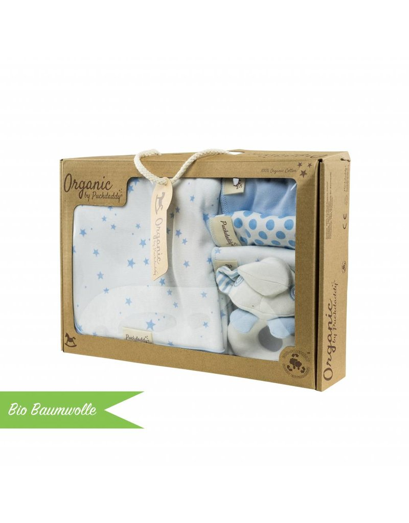 "Organic cotton gift set ""Stars light blue"""
