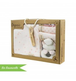 "Organic cotton gift set ""Stars rose"""