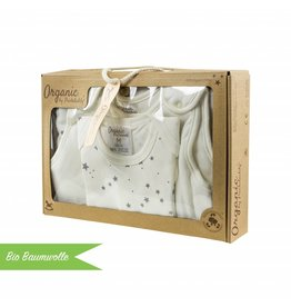 "Organic cotton gift set ""Stars grey"""