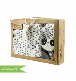 "Organic Cotton Gift Set ""Panda"""