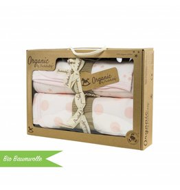 "Organic cotton Blanket Set ""Dots/ Stars rose"""