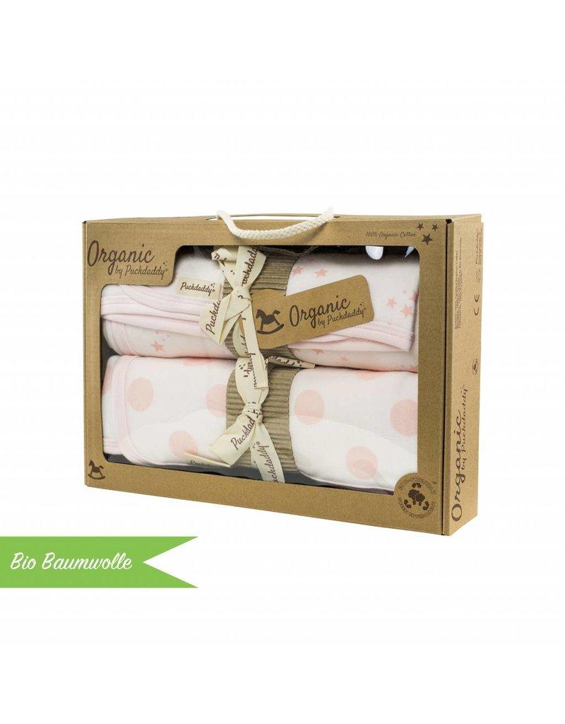 "Organic Coton Blanket Set ""Dots/ Stars rose"""