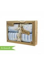 "Organic Coton Blanket Set ""Stripes/ Stars blue"""