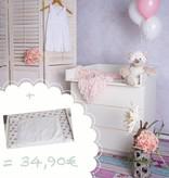 """Wickelaufsatz """"Basic"""" in weiß für IKEA Malm Kommode + Wickelauflage """"Sterne weiß"""""""