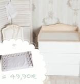 """Wickelaufsatz """"Wolke 4"""" in natur für IKEA Malm Kommode + Wickelaufsatz """"Sterne weiß"""""""