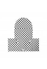 """Puckdaddy Coussin """"Croix noir/blanc"""" pour chaise haute Antilop de IKEA"""