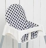 """Sitzkissen """"Kreuze schwarz/weiß"""" für Ikea Antilop"""