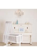 Ausstellungsstück Babywiege in weiß, mit Schwenkfunktion
