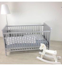 Ausstellungsstück Babybett in grau