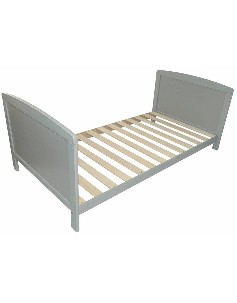 Ausstellungsstück Babybett in grau, auch umbaubar zum Kinderbett