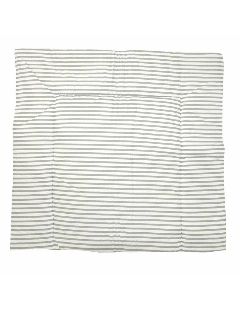 """Wickelauflage """"Chevron grau-weiß/ Streifen"""", mit abnehmbarem Frotteebezug"""