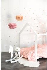 Hausbett für Kinder 90x200 cm weiß