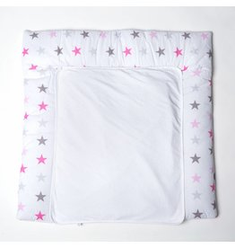 "Changing Mat ""stars rose/grey"""