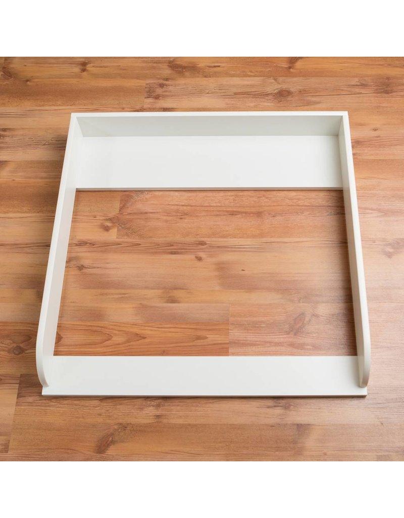 """Ausstellungsstück Wickelaufsatz """"Rund"""" in weiß für IKEA Malm Kommode"""