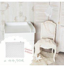 Wickelaufsatz Rund + Trennfach für IKEA Malm + Wickelauflage Anker schmal