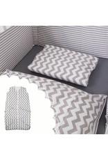 "Bed Linen + Baby sleeping bag ""chevron"" 70-90 cm"