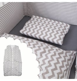 "Bed Linen ""Chevron"" + Baby sleeping bag ""chevron"" 70-90 cm"