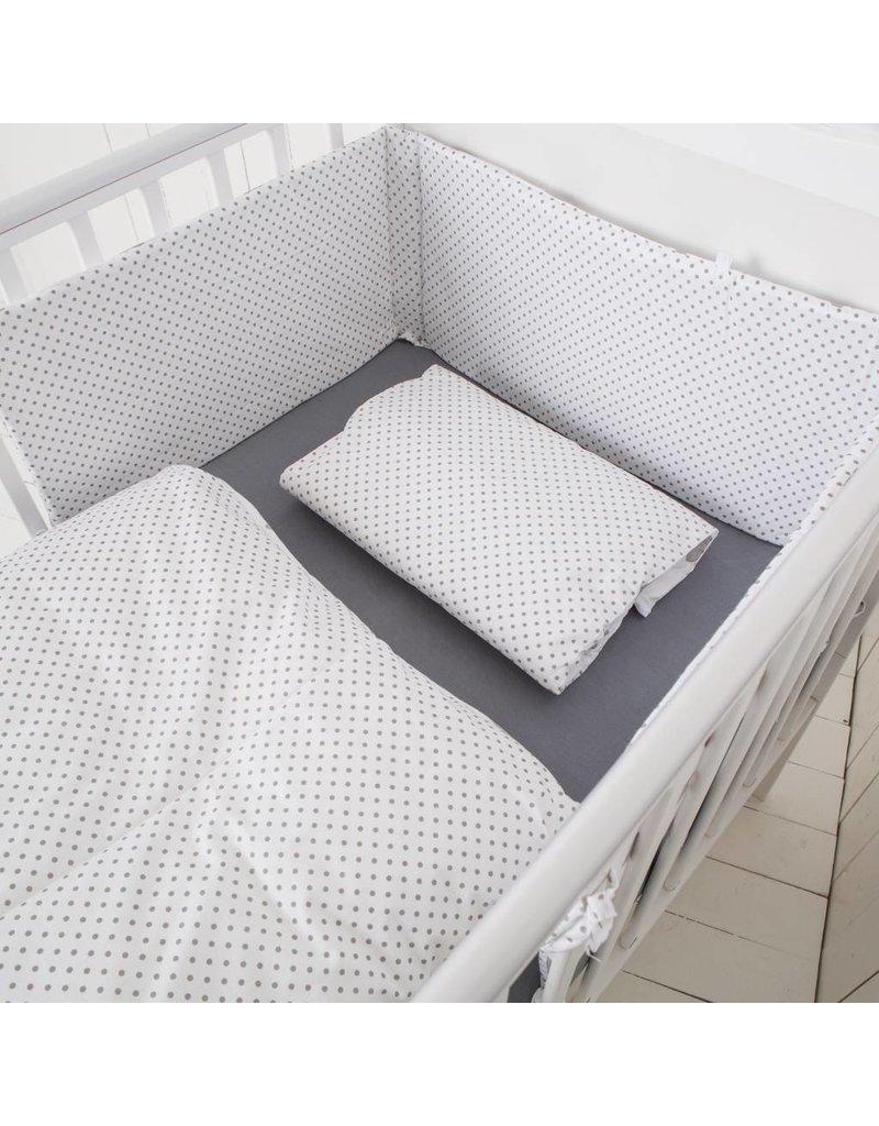 """Linge de lit """"étoiles blanc"""" + Gigoteuse """"étoiles blanc 70-90 cm"""