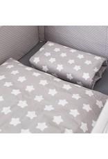 """Bettwäsche """"Sterne grau"""" + Schlafsack """"Sterne grau"""" 70-90 cm"""