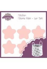 """Aufbewahrungskorb """"Sterne weiß"""" + Sticker """"Sterne rosa"""""""