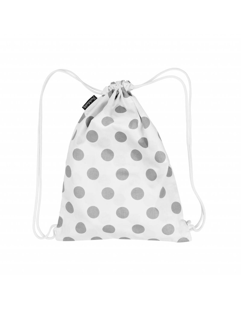 """Dots White"": Hand Muff Stroller, Nappy Pouch, Gymsac"