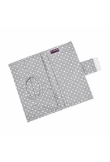 """Hand Muff Stroller """"Clouds grey"""", Nappy Pouch """"Dots small"""", Gymsac """"Dots small"""""""