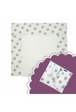 """""""Stars white"""": Changing Mat, Nappy Pouch"""