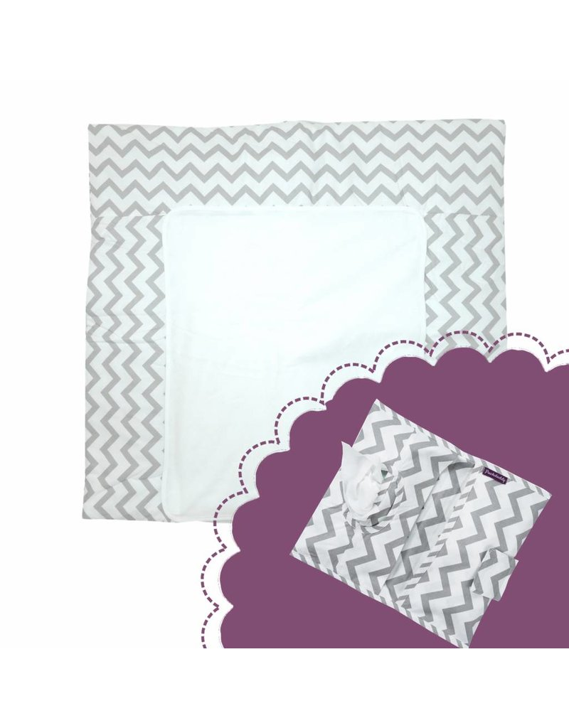 """""""Chevron"""": Changing Mat, Nappy Pouch"""