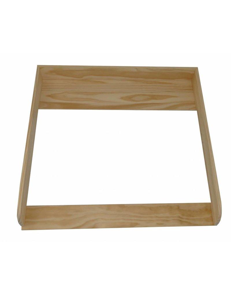 """Standard Extraround - natural wood"" + Changing mat ""Clouds grey"""