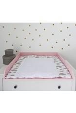 """Wickelaufsatz """"Rund"""" für IKEA Hemnes/ Songesand in rosa"""