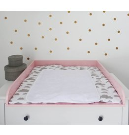 Extra Bords arrondis en rose! Plan à langer pour commodes IKEA Hemnes
