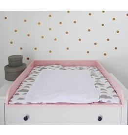 """Wickelaufsatz """"Rund"""" in rosa  für IKEA Hemnes/ Songesand"""