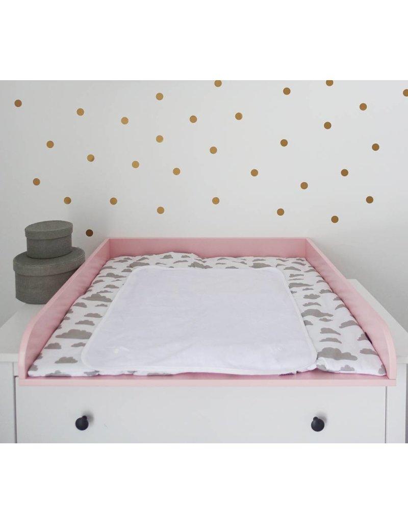 Extra Bords arrondis en rose - Plan à langer pour tous les commodes IKEA Hemnes/ Songesand