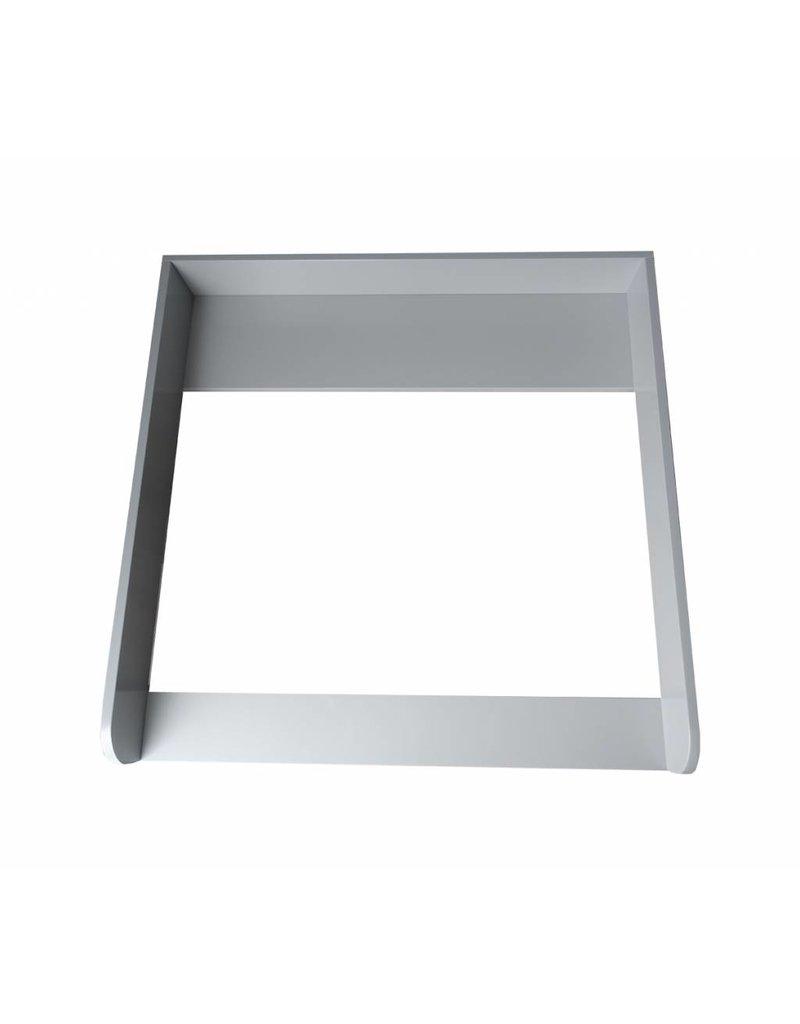 """Wickelaufsatz """"Rund"""" in grau für IKEA Hemnes/ Songesand"""